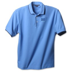 View a larger, more detailed picture of the Devon & Jones Tipped Pique Polo - Men s - Closeout