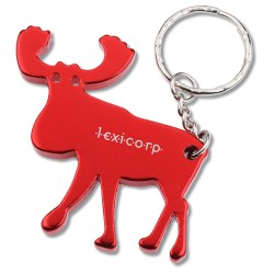 View a larger, more detailed picture of the Moose Key Tag Bottle Opener