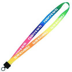 View a larger, more detailed picture of the Tie-Dye Multicolor Lanyard - 3 4