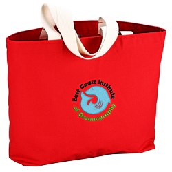 View a larger, more detailed picture of the USA Made Bayside Jumbo Tote - Colors - Embroidered