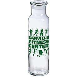 View a larger, more detailed picture of the Vibe Glass Bottle w Glass Lid - 22 oz