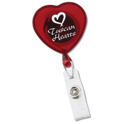 View a larger, more detailed picture of the Red Heart Badge Holder - Closeout