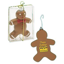 View a larger, more detailed picture of the Shatterproof Ornament - Gingerbread Man - 24 hr