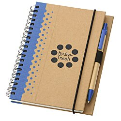 View a larger, more detailed picture of the Dew Drops Recycled Jr Notebook & Pen - 24 hr