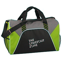 View a larger, more detailed picture of the Color Panel Sport Duffel - Screen - 24 hr