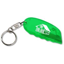 View a larger, more detailed picture of the Safety Cutter w Key Ring - Translucent