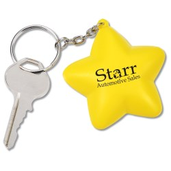 View a larger, more detailed picture of the Squishy Key Tag - Star