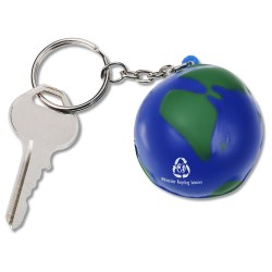 View a larger, more detailed picture of the Squishy Key Tag - Globe