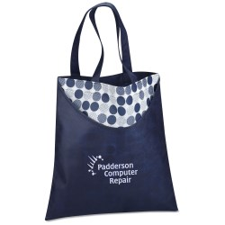 View a larger, more detailed picture of the Designer Print Scoop Tote - Dots - 24 hr