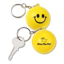View a larger, more detailed picture of the Squishy Key Tag - Smiley Face