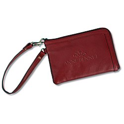 View a larger, more detailed picture of the Leather Wristlet - 24 hr