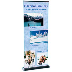 View a larger, more detailed picture of the Square-Off Retractable Banner - 35-1 4