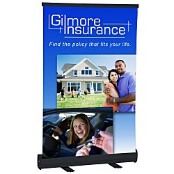 View a larger, more detailed picture of the Economy Tabletop Retractor Banner Display - 24