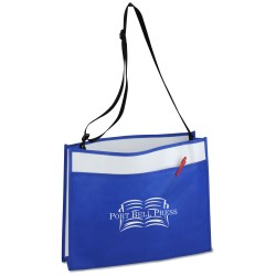 View a larger, more detailed picture of the Courier Laminate Tote - Closeout