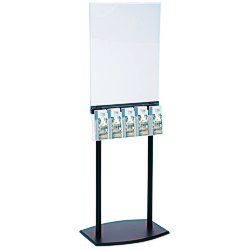 View a larger, more detailed picture of the Floor Poster Stand w 5 Pockets - Black