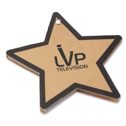 View a larger, more detailed picture of the V Natural Kraft Jotter - Star - Closeouts