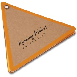 View a larger, more detailed picture of the V Natural Kraft Jotter - Triangle - Closeout