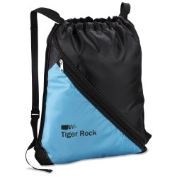 View a larger, more detailed picture of the Bold Divider Drawstring Backpack