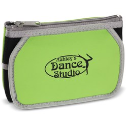 View a larger, more detailed picture of the Zippered Cosmetic Pouch w Mirror