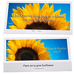 View a larger, more detailed picture of the Matchbook Seed Packet - Sunflower