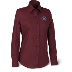 View a larger, more detailed picture of the Soft Collar Poplin Shirt - Ladies