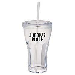View a larger, more detailed picture of the Fountain Soda Tumbler with Straw - 16 oz