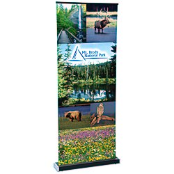 View a larger, more detailed picture of the Square-Off Retractable Banner - 35-3 4 -Replacement Graphic