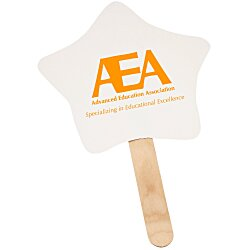 View a larger, more detailed picture of the Mini Hand Fan - Star