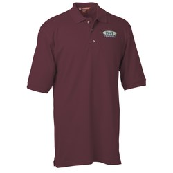 View a larger, more detailed picture of the Harriton 6 oz Ringspun Cotton Pique Polo - Men s - 24 hr