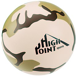 View a larger, more detailed picture of the Camouflage Round Stress Reliever - 24 hr