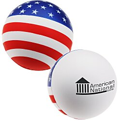 View a larger, more detailed picture of the Patriotic Round Stress Reliever - 24 hr