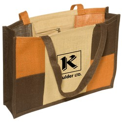 View a larger, more detailed picture of the City Square Jute Tote