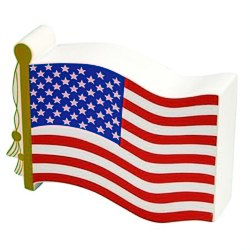 View a larger, more detailed picture of the Stress Reliever - Flag - 24 hr