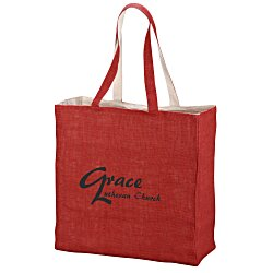 View a larger, more detailed picture of the Reversible Jute Cotton Tote
