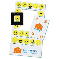View a larger, more detailed picture of the Bic Mood Frame Magnet - Smiley Faces