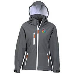 View a larger, more detailed picture of the Clique Tulsa Hooded Bonded Soft Shell - Ladies
