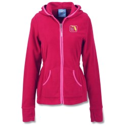 View a larger, more detailed picture of the Microfleece Hoodie - Ladies 