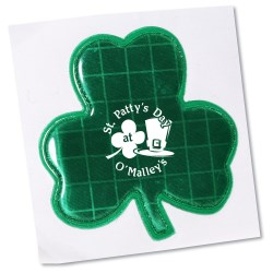 View a larger, more detailed picture of the Reflective Sticker - Shamrock - 2 Dia