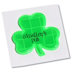 View a larger, more detailed picture of the Reflective Sticker - Shamrock - 1-1 8 Dia