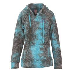View a larger, more detailed picture of the Weatherproof Courtney Burnout Sweatshirt-Teal Wave-Emb