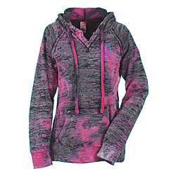 View a larger, more detailed picture of the Weatherproof Courtney Burnout Sweatshirt-Raspberry Swirl-Emb