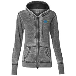 View a larger, more detailed picture of the J America Zen Full-Zip Hooded Sweatshirt - Ladies - Emb