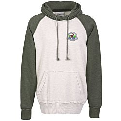 View a larger, more detailed picture of the J America Vintage Heather Hooded Sweatshirt - Embroidery