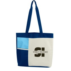View a larger, more detailed picture of the Color Block Tote - Closeout