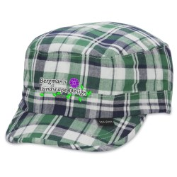 View a larger, more detailed picture of the Peter Grimm Cadet Cap - Green Plaid - Closeout