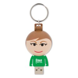 View a larger, more detailed picture of the Ball USB People - 2GB - Female