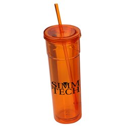 View a larger, more detailed picture of the Torino Spirit Tumbler w Straw - 16 oz 