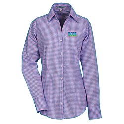 View a larger, more detailed picture of the Easy Care Plaid Dress Shirt - Ladies