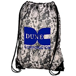 View a larger, more detailed picture of the Drawstring Sportpack - 18 x 14 - Digital Camo