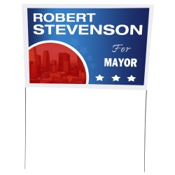 View a larger, more detailed picture of the Plastic Sheeting Yard Sign - 16 x 24